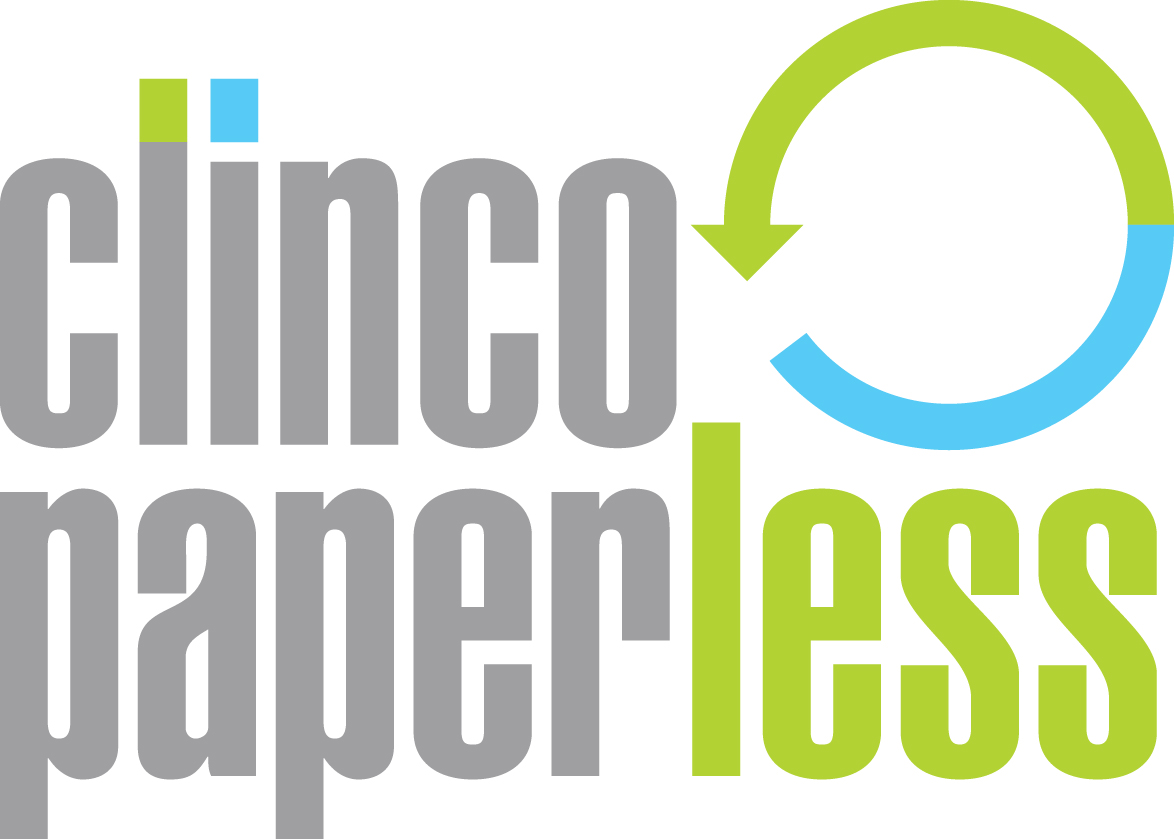 Clinco paperless logo. Clinco - providing paperless solutions