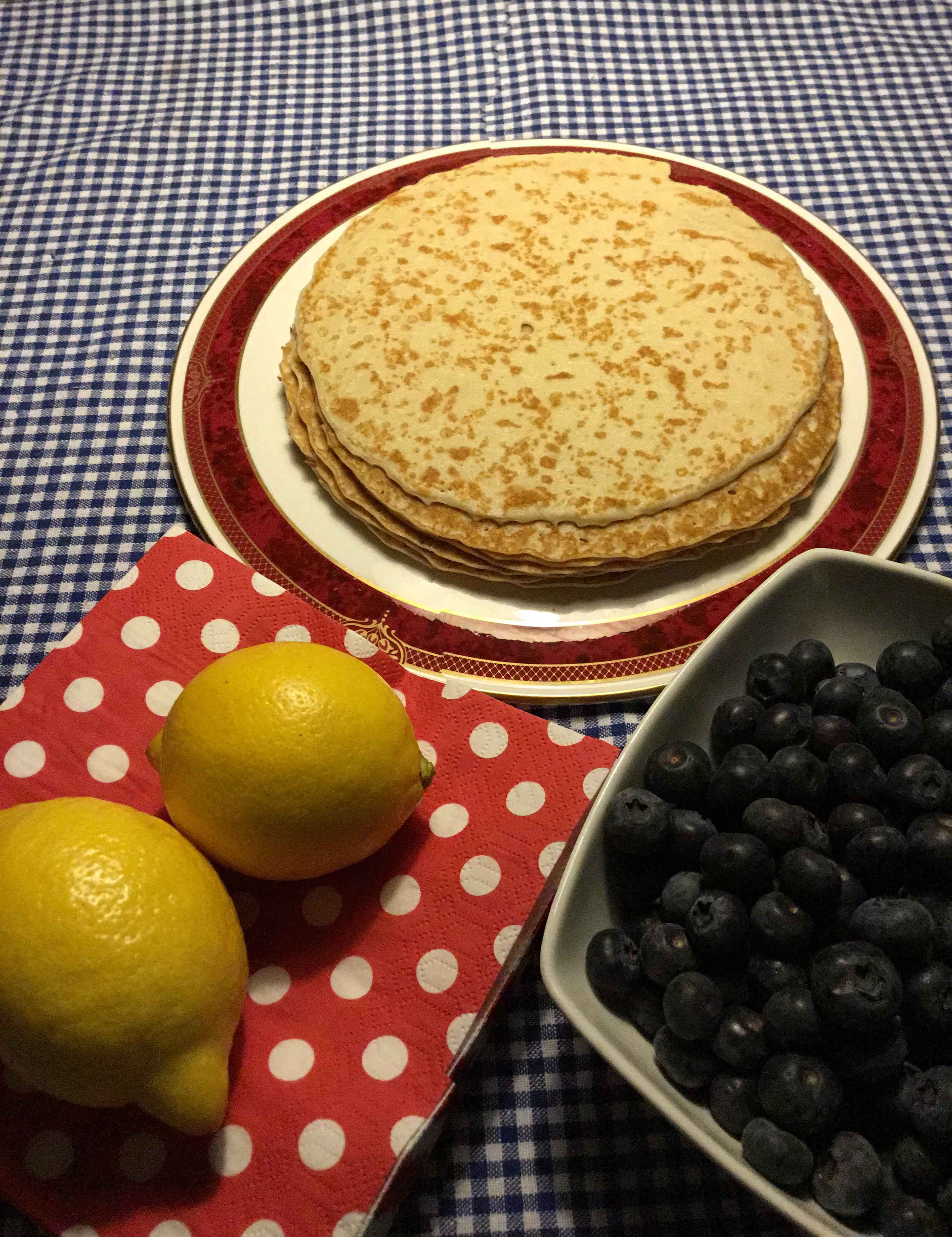 Headway Pancake Day; Pancakes with lemons and blueberries
